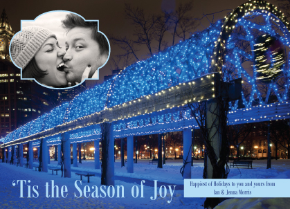 Holiday Cards - An Evening in Boston (Christopher Columbus Park)