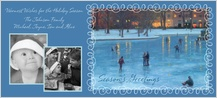 Holiday Cards - back bay skaters