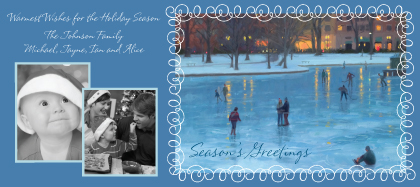 Holiday Cards - Back Bay Skaters