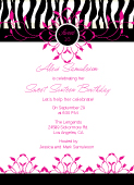 Birthday Party Invitation - Sweet 16 Party Girl