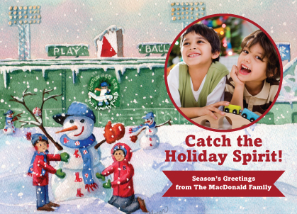 Holiday Cards - Fenway Fantasy in the Snow