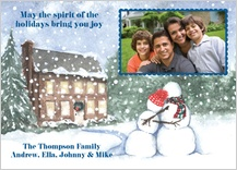 Holiday Cards - snow people