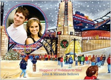 Holiday Cards - winter at gillette stadium