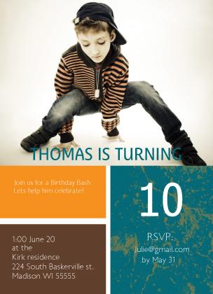 Birthday Party Invitation - Grunge Birthday