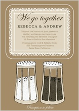 Wedding Invitation - salt & pepper - wedding