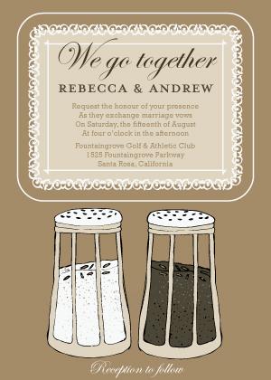 Wedding Invitation - Salt & Pepper - Wedding
