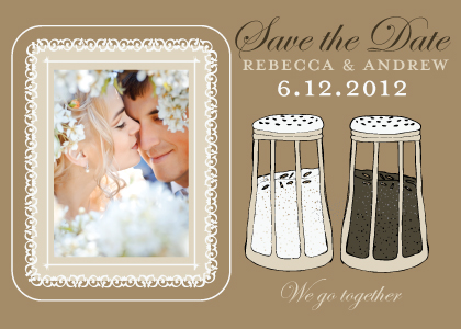 Save the Date Card with photo - Salt & Pepper - Wedding