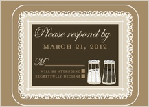 Response Card - salt & pepper - wedding