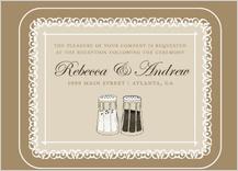 Reception Card - salt & pepper - wedding