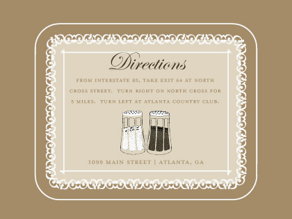 Direction - Salt & Pepper - Wedding