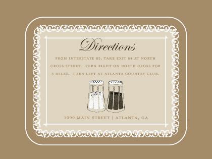Direction - Salt & Pepper - Wedding