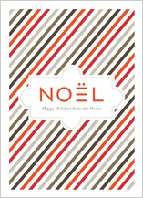 Christmas Cards - noel stripe
