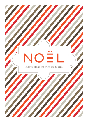 Christmas Cards - Noel Stripe