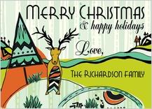 Christmas Cards - tribal reindeer