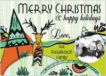 Holiday Cards - tribal reindeer