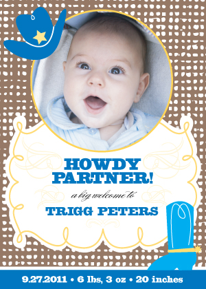Birth Announcement - Howdy Partner!