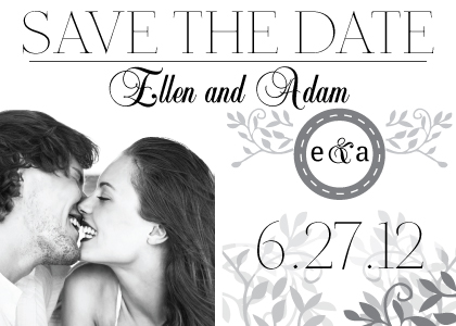 Save the Date Card with photo - Wedding Invitation