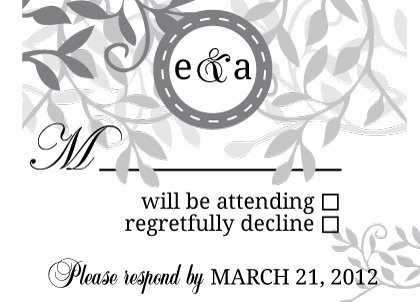 Response Card - Wedding Invitation