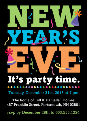 Holiday Party Invitations - New Year's Party