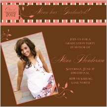 Graduation Party Invitation - pretty in pink grad