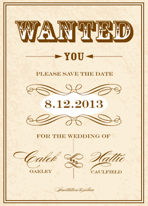 Save the Date Card - Gettin' Hitched
