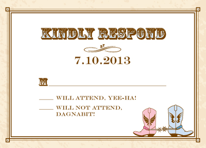 Response Card - Gettin' Hitched