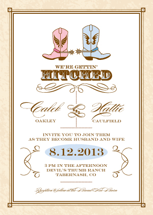 Wedding Invitation - Gettin' Hitched
