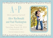 Save the Date Card with photo - prescott park