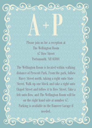 Reception Card - Prescott Park