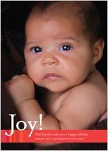 Holiday Cards - modern joy stripe ii