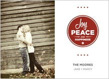 Holiday Cards - joy, peace & happiness