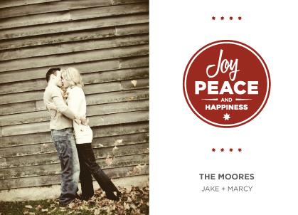 Holiday Cards - Joy, Peace & Happiness