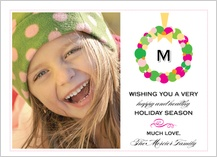Christmas Cards - colorful wreath