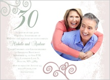 Anniversary Party Invitation - elegant anniversary