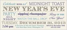 Holiday Party Invitations - midnight toast