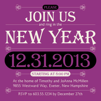 Holiday Party Invitations - New Years Jewels