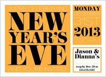 Holiday Party Invitations - new years