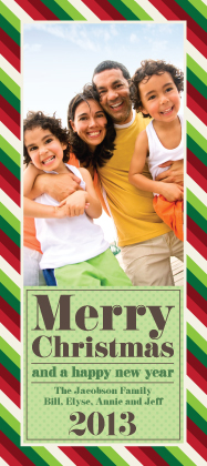 Christmas Cards - Christmas Stripes