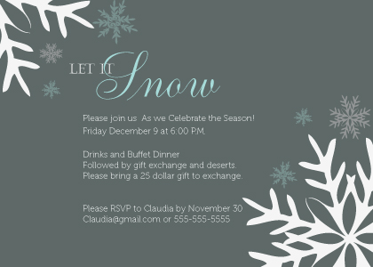 Holiday Party Invitations - Lest It Snow Holiday Party
