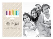 Hanukkah Cards - colorful candles