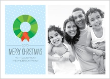 Christmas Cards - modern wreath