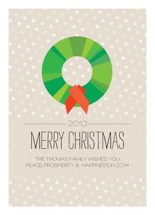 Christmas Cards - Wreath and Snow