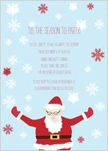 Holiday Party Invitations - santa holiday party
