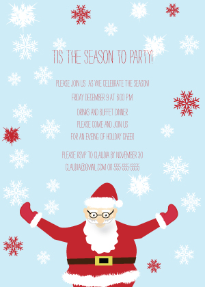 Holiday Party Invitations - Santa Holiday Party