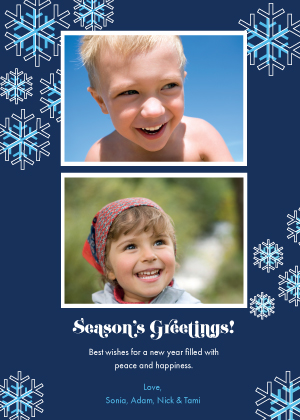 Holiday Cards - Snow Flurries