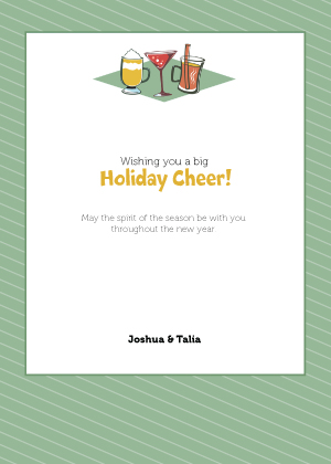 Holiday Cards - Holiday Cheer in green