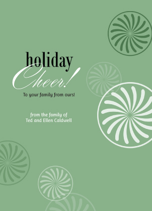 Holiday Cards - Holiday Cheer! green