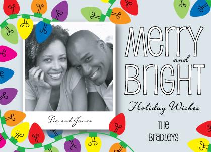Holiday Cards - Retro Lights