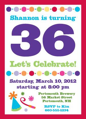 Birthday Party Invitation - Birthday Numbers