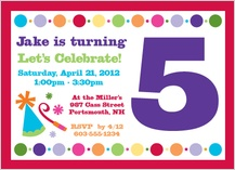 Birthday Party Invitation - birthday numbers